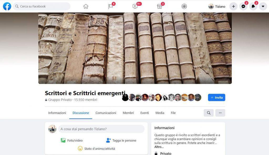 Gruppi Facebook per scrittori